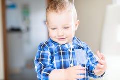 Handsome smiling toddler boy Royalty Free Stock Image