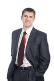 Handsome smiling young businessman. Stock Photography