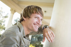 Handsome Smiling Young Man Portrait Outside Stock Images