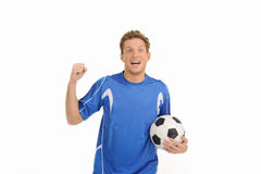 Handsome soccer player. Royalty Free Stock Image