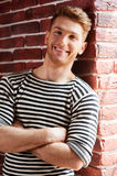 Handsome in striped shirt. Royalty Free Stock Photos