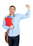 Handsome student istolated Stock Image