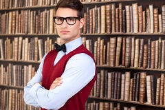 Handsome student in library Stock Image