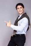 Handsome style. Cheerful young man in smart casual Royalty Free Stock Photography