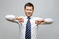 Free Handsome Stylish Businessman On Grey Background Royalty Free Stock Photo - 67140465