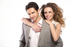 Handsome stylish guy with fashionable girlfriend Royalty Free Stock Photography