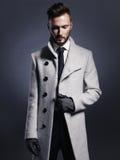 Handsome stylish man in autumn coat Stock Photo