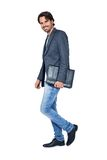 Handsome stylish man carrying a briefcase Stock Images