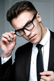 Handsome stylish man Stock Photos