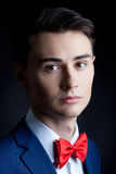 Handsome stylish man. Portrait of handsome stylish man in elegant suit Royalty Free Stock Photography