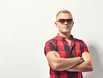Handsome stylish man in sunglasses Stock Photo