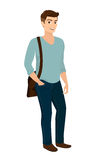 Handsome stylish men casual fashion Royalty Free Stock Image