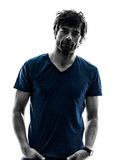 Handsome stylish stubble man portrait serious royalty free stock photography