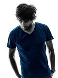 Handsome stylish stubble man portrait silhouette Stock Photography
