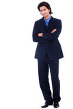 Handsome successful business man. In suit, full length royalty free stock image