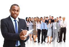 Handsome successful business man Stock Images