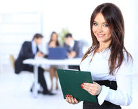 Handsome successful business man busy working Royalty Free Stock Photos