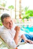 Handsome successful businessman Stock Image