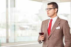 Handsome successful young man has a business Royalty Free Stock Photography