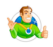 Handsome super hero character. Stock Photo