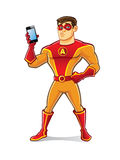 Handsome Superhero Gadget Royalty Free Stock Photos