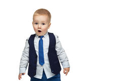 Handsome surprised little boy Stock Photography
