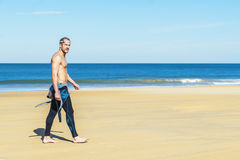 Handsome Swimmer ready to start swimming Royalty Free Stock Photo