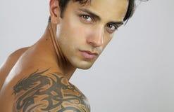 Handsome tattooed man Royalty Free Stock Photo