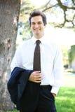 Handsome Teacher at School Stock Image