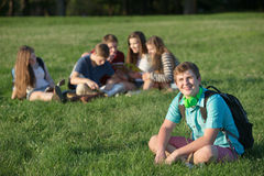 Handsome Teen with Backpack Royalty Free Stock Photography
