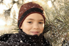 Handsome teen boy. Outdoors portrait of the handsome smiling teenager boy Royalty Free Stock Photos