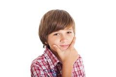 Handsome teen boy. Portrait of cute teen boy wearing a plaid shirt Stock Photography