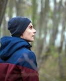 Handsome teenage boy outdoor Stock Photography