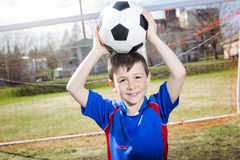 Handsome teenager boy Football Royalty Free Stock Photo