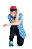 Handsome teenager looking at the camera. Royalty Free Stock Photo