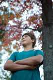Handsome Teenager Outdoors Royalty Free Stock Photo