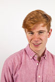 Handsome teenager with red hair Royalty Free Stock Images