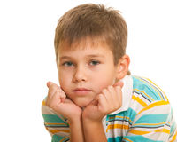 Handsome thoughtful boy Royalty Free Stock Image