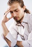 Handsome thoughtful man. Portrait of a handsome thoughtful man Royalty Free Stock Photography