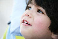 Handsome toddler boy profile Stock Photo