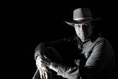 Handsome traditional cowboy Royalty Free Stock Image