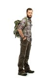 Handsome traveler with backpack Stock Image