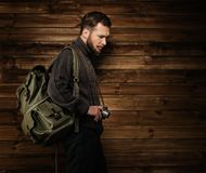 Handsome traveler Stock Photo