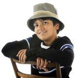 Handsome Tween in a Bucket Hat Stock Photo