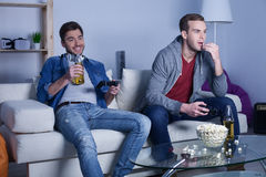 Handsome two friends are spending time for fun Royalty Free Stock Photo