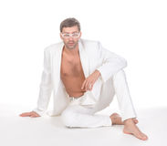 Handsome unbuttoned man Stock Photography