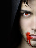 Handsome vampire Stock Photos