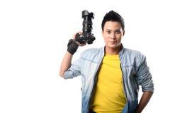 Handsome Vietnamese photographer Stock Photography