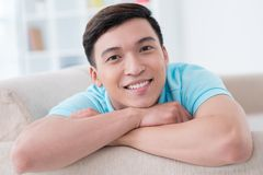 Handsome Vietnamese young man Stock Photography
