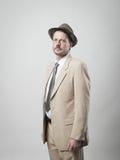 Handsome vintage man portrait Stock Images